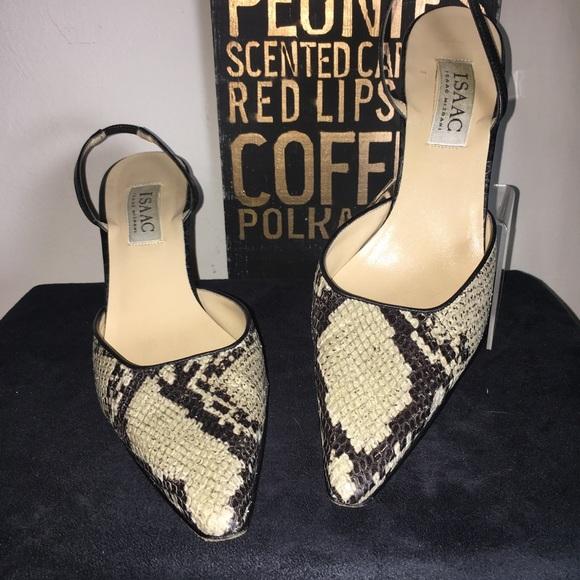 Isaac Mizrahi Shoes   Snake Skin Sling